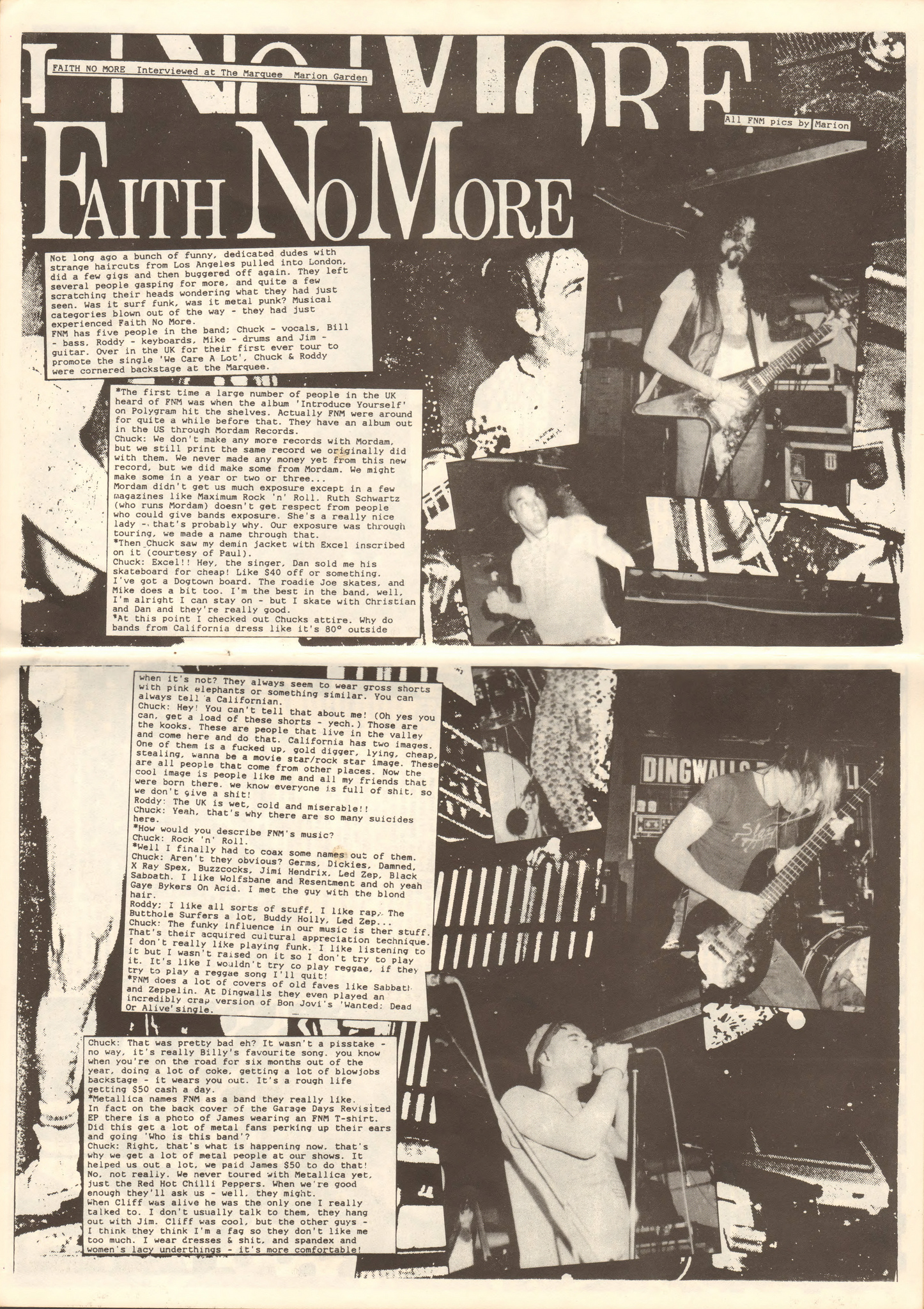 Faith no more Interview 1988 page 1